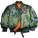 Alpha Industries  US Pilotenjacke MA-1 KIDS YOUTH, sage...